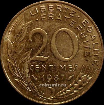 20 сантимов 1987 Франция.