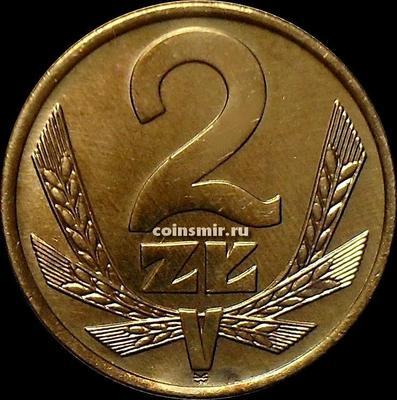 2 злотых 1975 Польша.