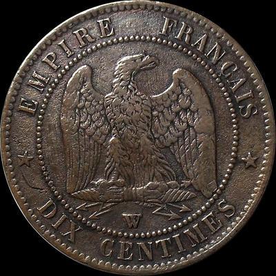 10 сантимов 1856 W Франция.