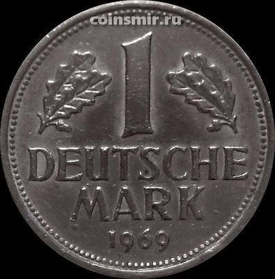 1 марка 1969 D Германия (ФРГ).