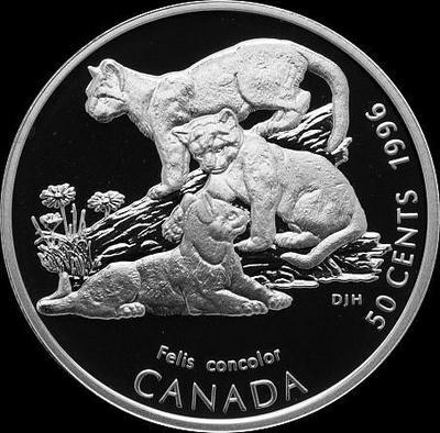 50 центов 1996 Канада. Котята пумы.