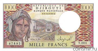 1000 франков 1979-2005 Джибути.