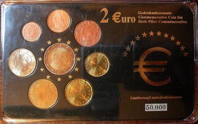 Набор евро монет 2003-2006 Люксембург. Пластик.
