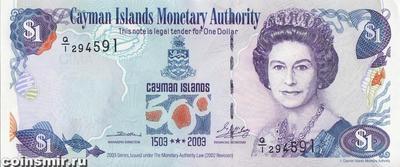 1 доллар 2003 Каймановы острова. 500-летие открытия Каймановых островов.