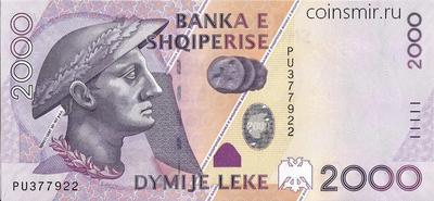 2000 лек 2007 Албания.