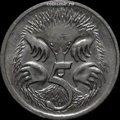 5 центов 2005 Австралия. Ехидна.