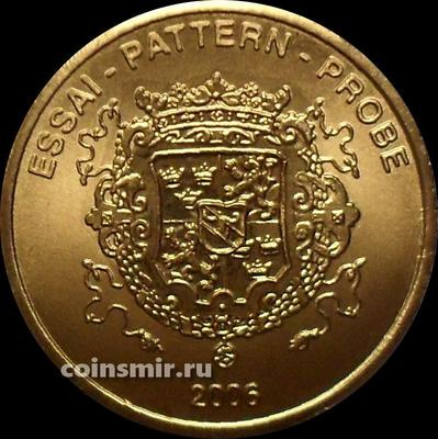 50 евроцентов 2006 Швеция. Европроба. Ceros. Герб.