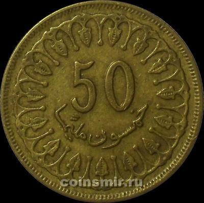 50 миллим 1983 Тунис.