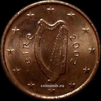 1 евроцент 2002 Ирландия. Кельтская арфа.