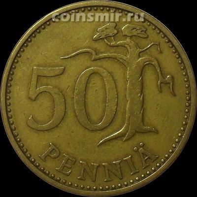 50 пенни 1963 S Финляндия.