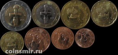 Набор евро монет 2016 Кипр. (в наличии 2008 год Запайка)