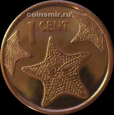 1 цент 2015 Багамские острова. Морская звезда.