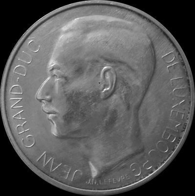 100 франков 1964 Люксембург. Коронация Жана.