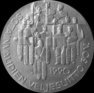 100 марок 1990 Финляндия. 50 лет Ассоциации ветеранов-инвалидов войны.