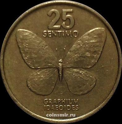 25 сентимо 1989 Филиппины. Бабочка.