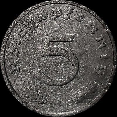 5 пфеннигов 1940 А Германия. Третий рейх.