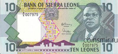 10 леоне 1988 Сьерра-Леоне.