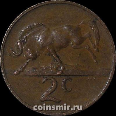 2 цента 1974 Южная Африка.