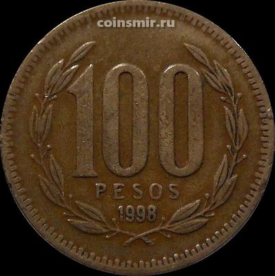 100 песо 1998 Чили.