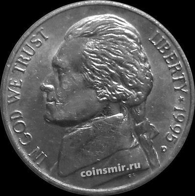 5 центов 1995 D США. Томас Джефферсон.