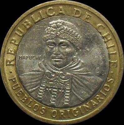 100 песо 2006 Чили.