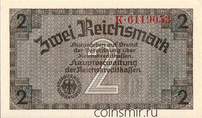 2 марки 1940-1945 Германия. Третий Рейх. Оккупированные территории.