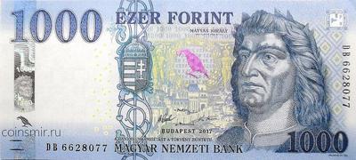1000 форинтов 2017 Венгрия.