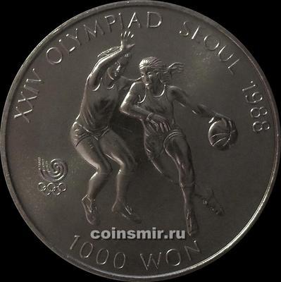 1000 вон 1986 Южная Корея. Олимпиада в Сеуле 1988. Баскетбол.