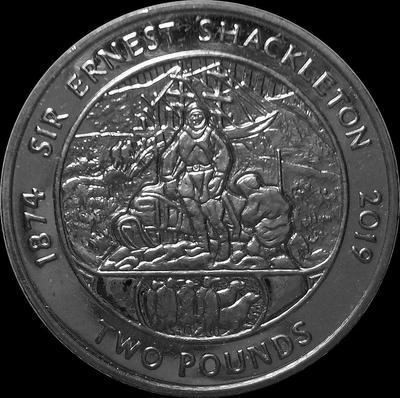 2 фунта 2019 Южная Георгия и Южные Сандвичевы острова. Эрнест Шеклтон.