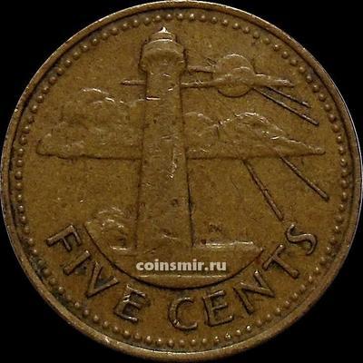 5 центов 1973 Барбадос. Маяк.