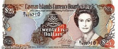 25 долларов 1996 Каймановы острова.
