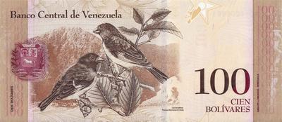100 боливаров 2013 Венесуэла.