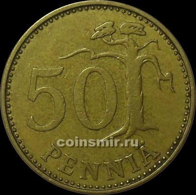 50 пенни 1970 S Финляндия.