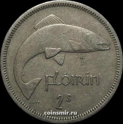 1 флорин (2 шиллинга) 1962 Ирландия. Лосось.