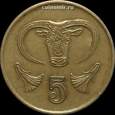 5 центов 1998 Кипр. Бык.