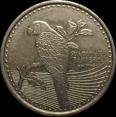 200 песо 2017 Колумбия. Красный ара.