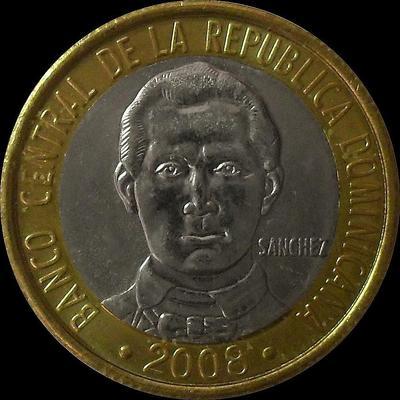 5 песо 2008 Доминиканская республика. UNC