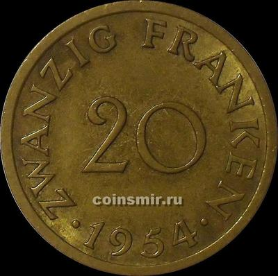 20 франков 1954 Саарленд.