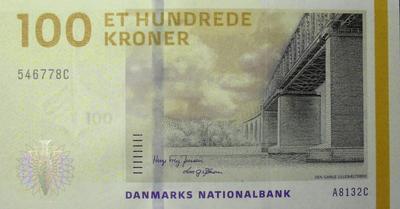 100 крон 2009 Дания.