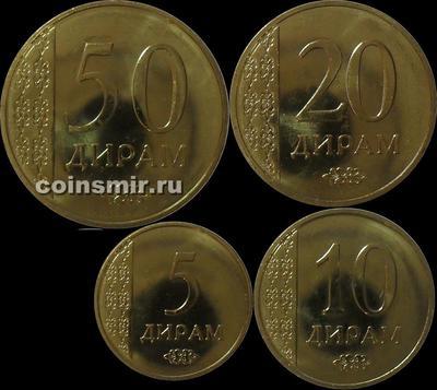 Набор из 4 монет 2015 Таджикистан.