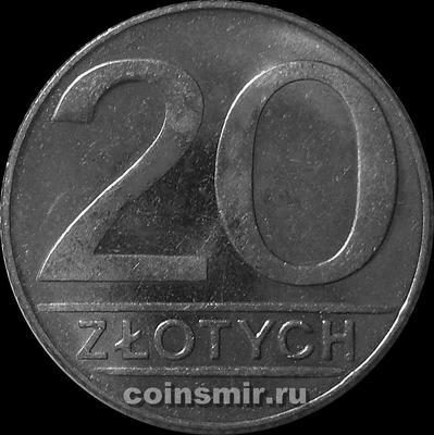 20 злотых 1990 Польша.