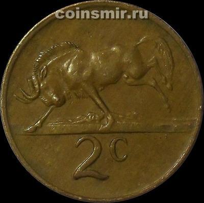 2 цента 1980 Южная Африка.