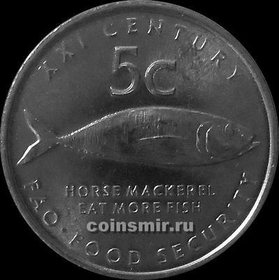 5 центов 2000 Намибия. ФАО.