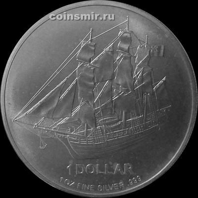 1 доллар 2010 острова Кука. Парусник.