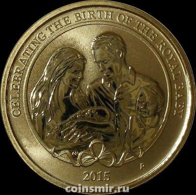 1 доллар 2015 Австралия. Рождение принцессы Шарлотты.