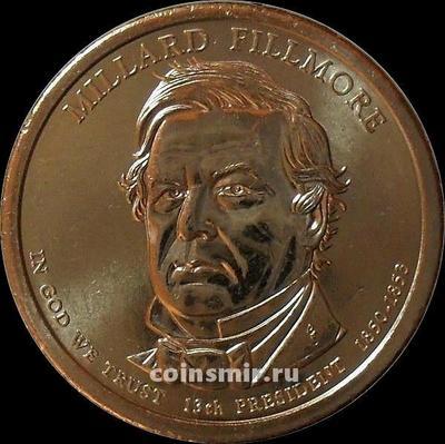 1 доллар 2010 Р США. 13-й президент США Миллард Филлмор.