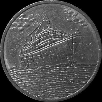 Жетон 25 центов 1994 США. Круизные Карибские линии.