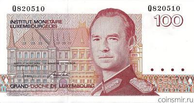 100 франков 1986 Люксембург.