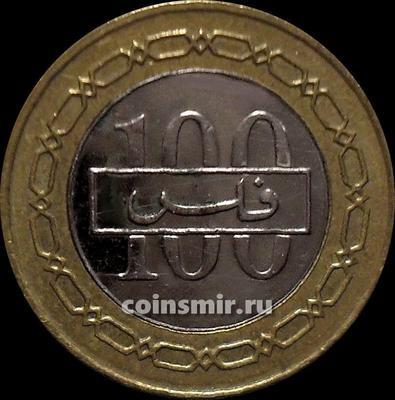 100 филсов 2008 Бахрейн.