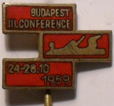 Значок III Конференция по деревообработке 24-28.10.1959 в Будапеште. Венгрия.